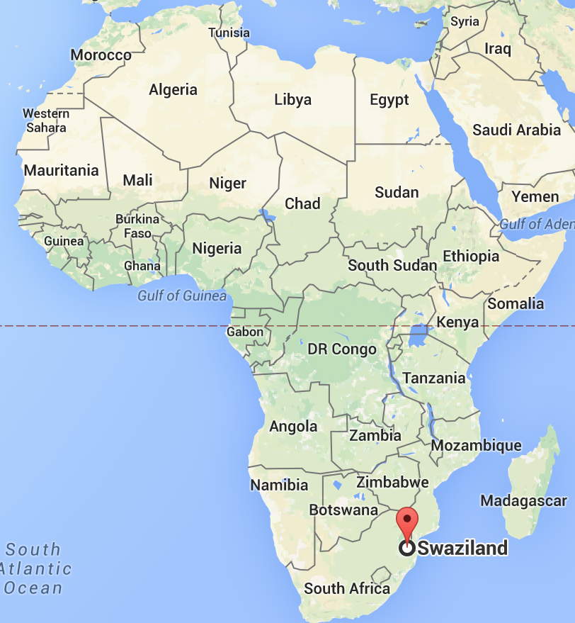 Swaziland Africa Map | Map Of Africa